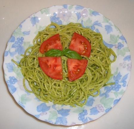 ペスト・ジェノベーゼのスパゲッティ