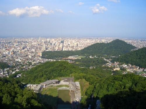 大倉山から望む札幌