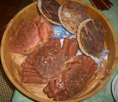豪華な晩御飯の素材