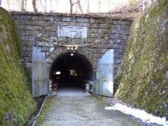 鯛生金山坑道入り口