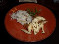 鶏肉のバルサミコ煮とキノコ 五穀ご飯?添え
